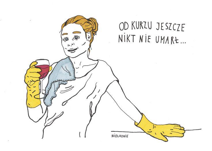#perfekcyjnapanidomu #odkuchni #weekend #sobota #wino #sprzątanie #nieładnie #nieladnierysuje #ilustracja #kamila #szcześniak #illustration #rysunki
