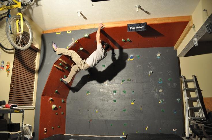 Garage Bouldering Wall Complete!