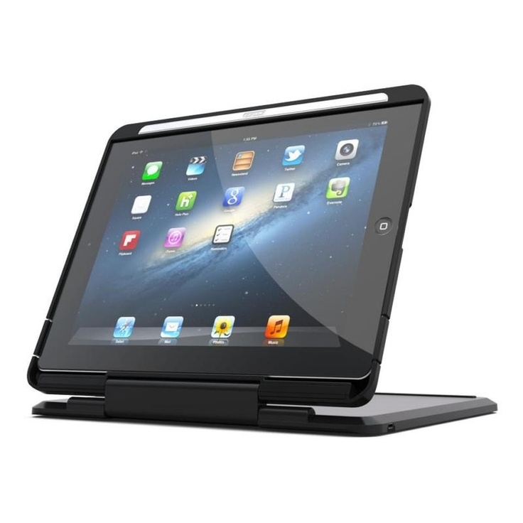 Detta iPad fodral med Bluetooth tangentbord kan användas i fyra olika lägen: bärbart läge, filmläge, tablet- läge och bärläge