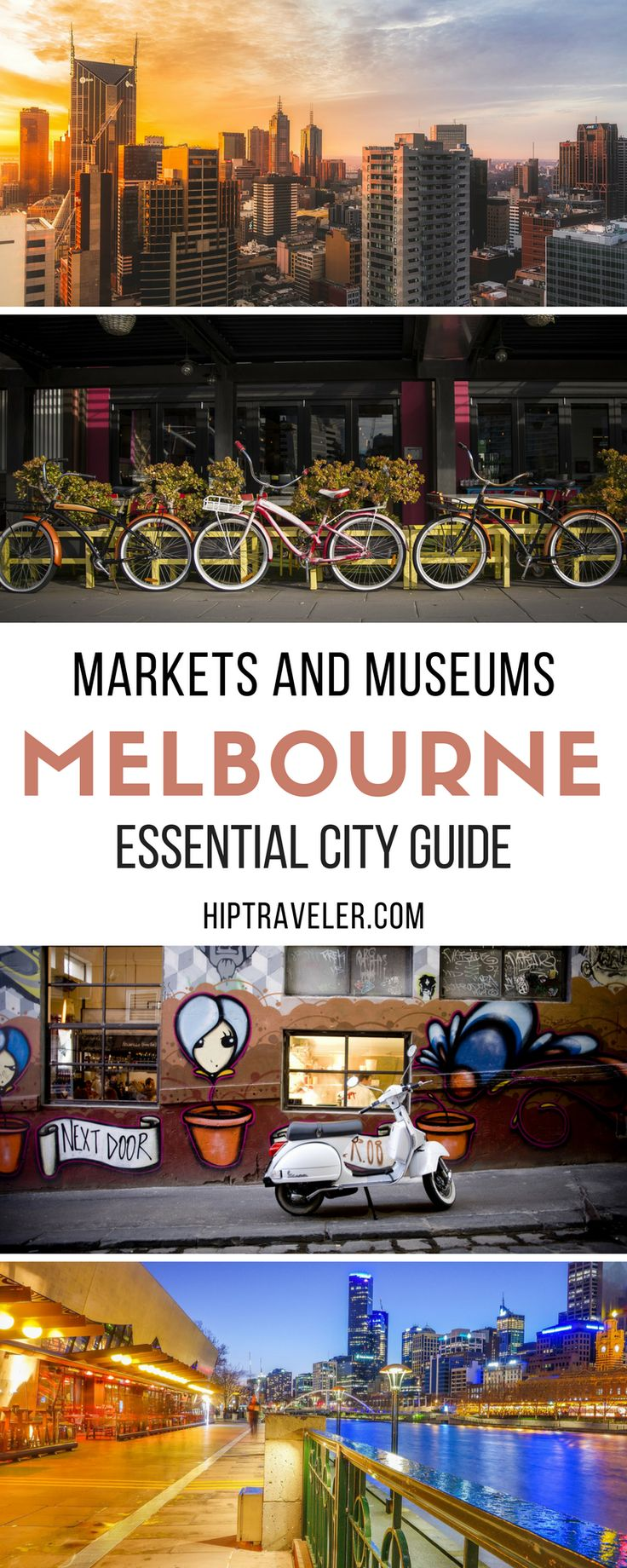 The essential guide to exploring Melbourne, Australia. Best things to do and see including markets, museums and gardens + top day trips from the city.   Blog by HipTraveler #Melbourne #Australia