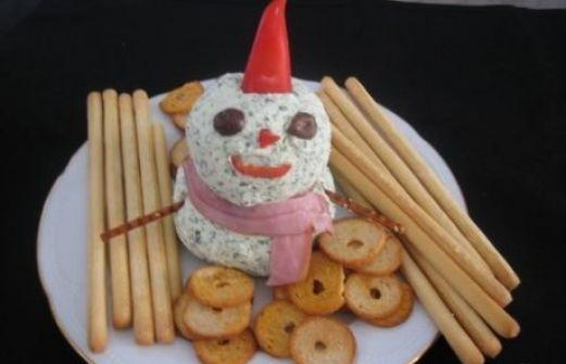 Συνταγή: Χιονάνθρωπος απο τυριά