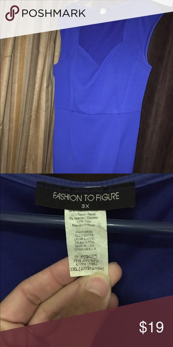 Fashion to Figure blue dress Work once for a wedding cobalt/royal blue 3XL Fashion to Figure Dresses