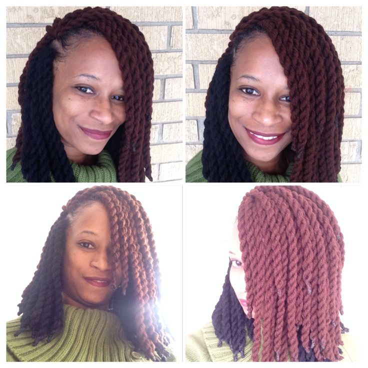 Yarn crochet braids