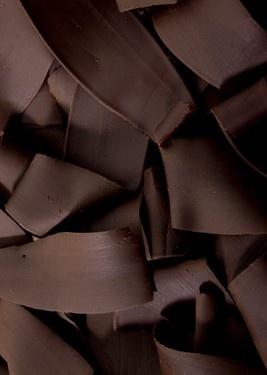 dark chocolate shavings