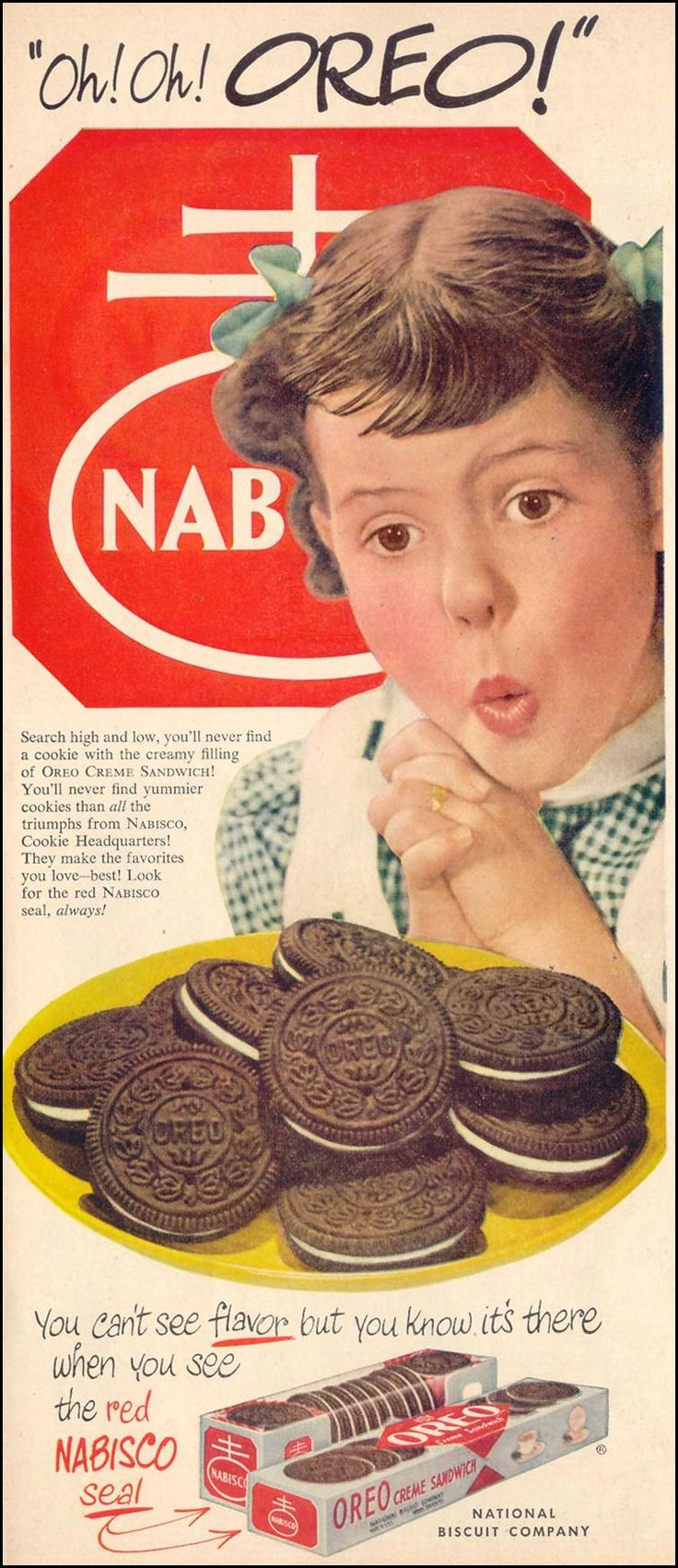 Vintage Ad Oreo  ...Please save this pin.  Because for vintage collectibles - Click on the following link!.. http://www.ebay.com/usr/prestige_online