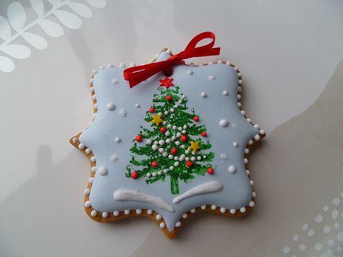 #Navidad #Galletas #Disfrutando a tope! Decorated Christmas tree cookies