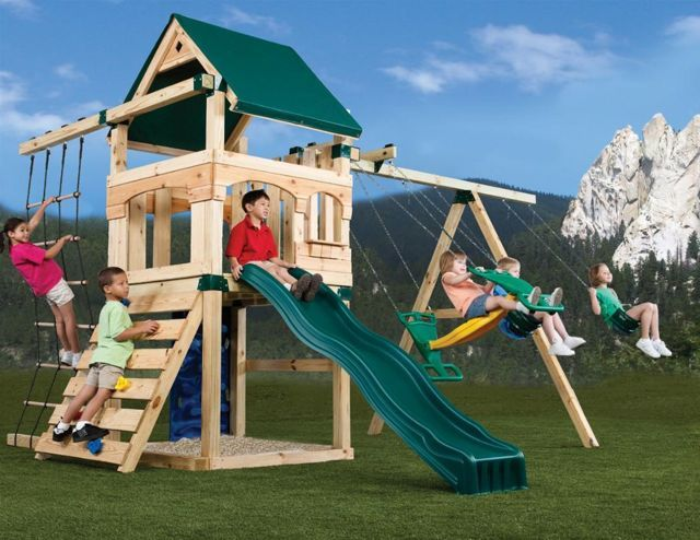 playhouse on pinterest diy swing play sets and swing set plans