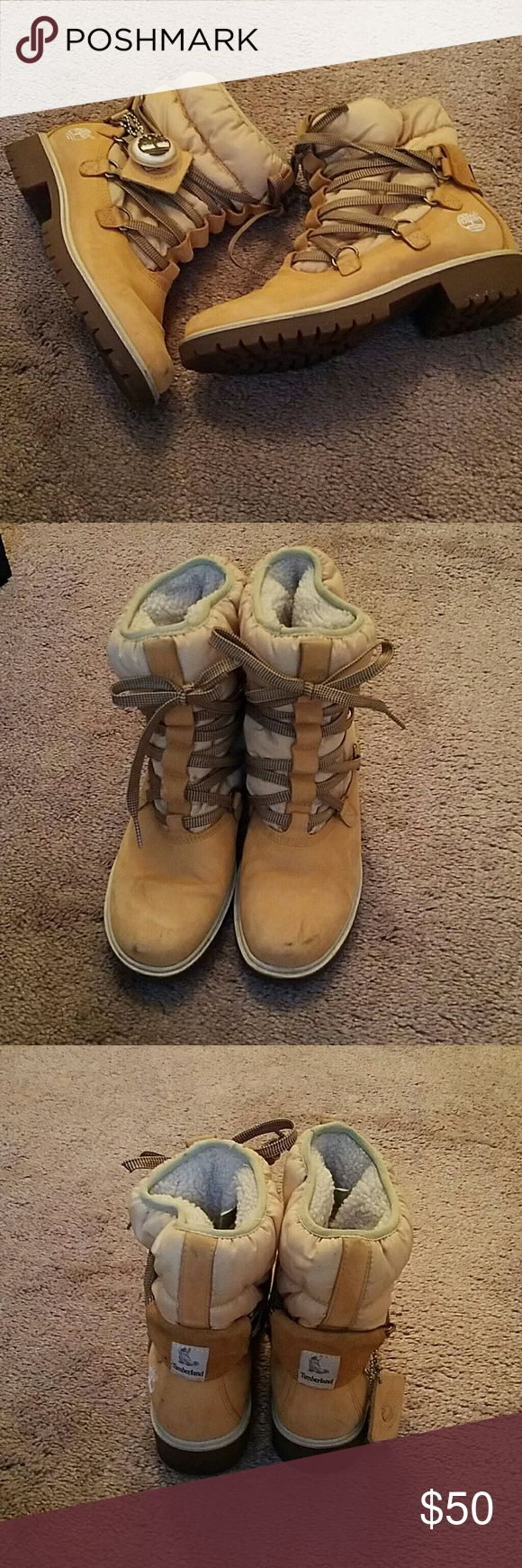 Timberland boots Cute tims boots still got life in them n a new home Timberland Shoes Ankle Boots & Booties
