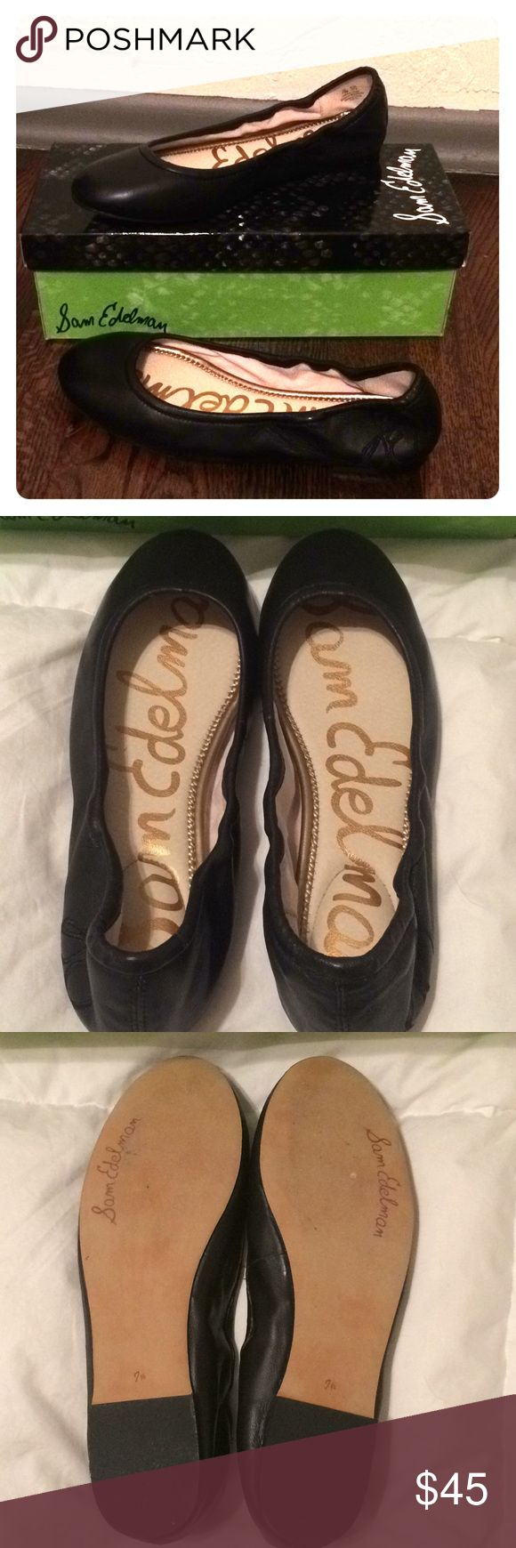 Classic black ballet flats Only worn once. Sam Edelman classic black ballet flats with cushioned sole. Have original box.  Super comfy, runs small Sam Edelman Shoes Flats & Loafers