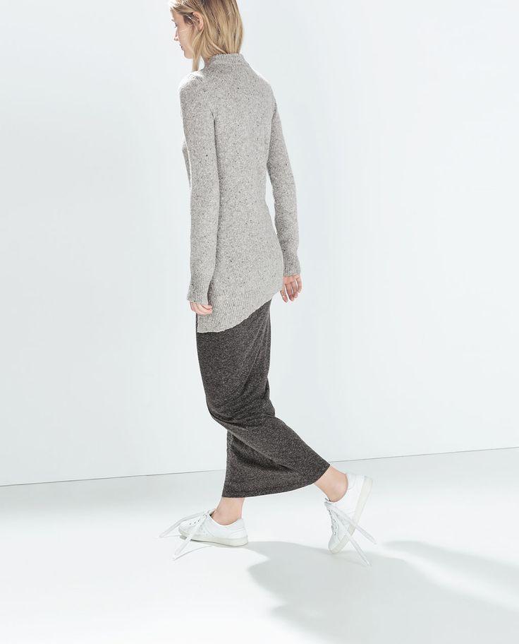 LONG SHEATH SKIRT-Trf-Skirts-WOMAN | ZARA United States