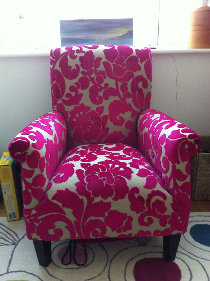 LOVE this Pink chair House Stuff Upholstery Fabric Top
