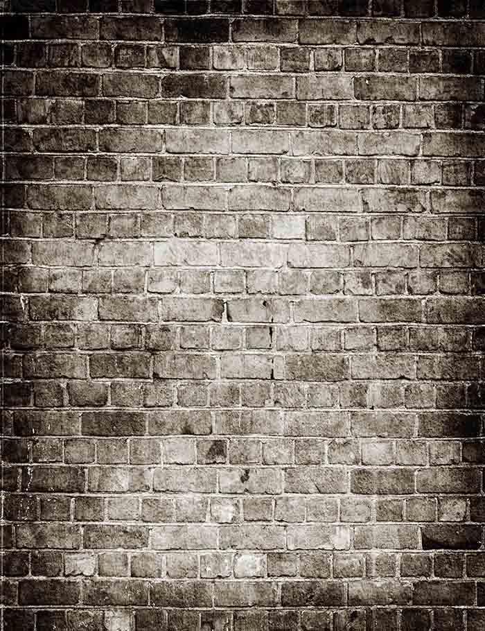 Retro Brick Wall Light In Center Photography Backdrop J 0043