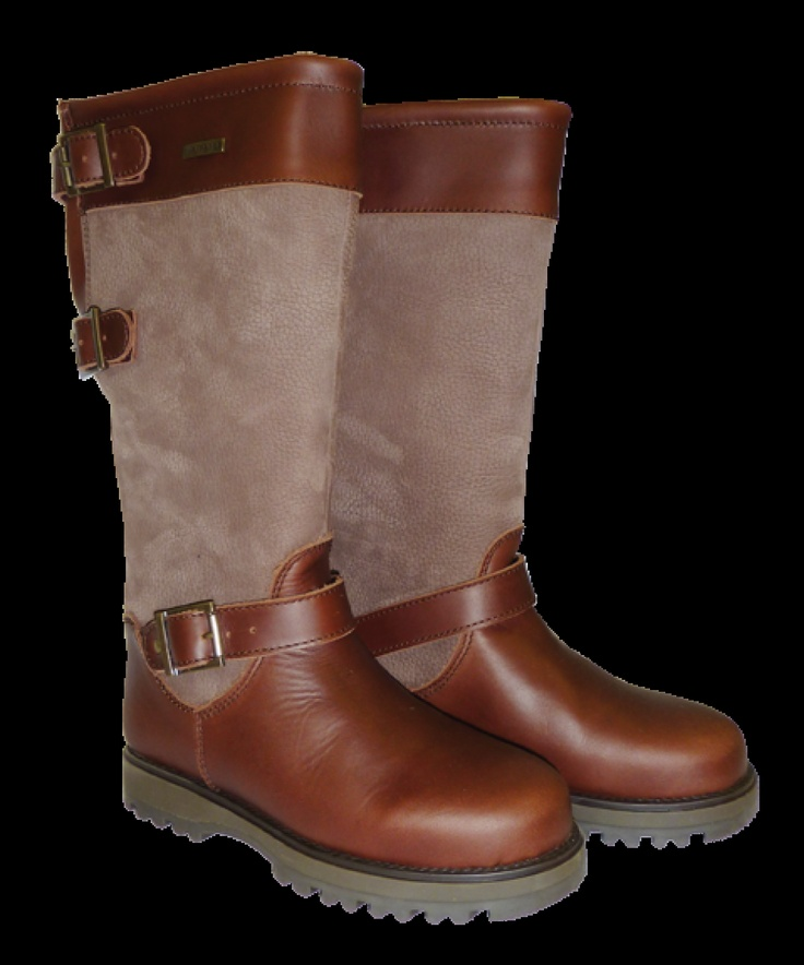 Welligogs Ranger  Brown Leather Country Boot. Leather wellies in size 4