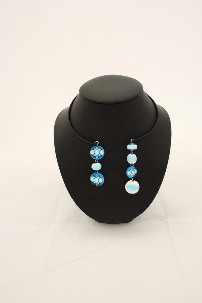 collier assymétrik perlimpinpin perles