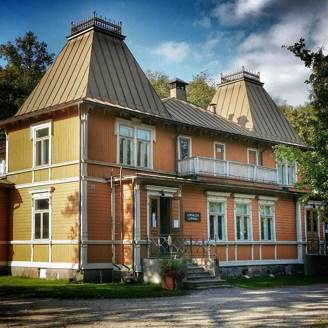 The old village hall, still used as a meeting place, in Fiskars,  Finland dated back to the early 1800s #Padgram