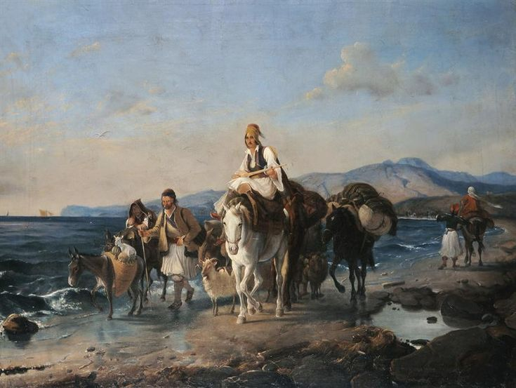 "Peter von Hess: ""Φυγή μετά την καταστροφή από τους Τούρκους στην παραλία της Επιδαύρου"""