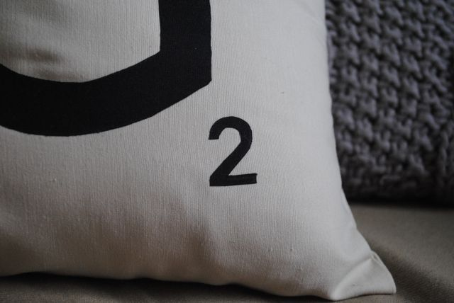 DIY Coussin Scrabble / Scrabble Pillow