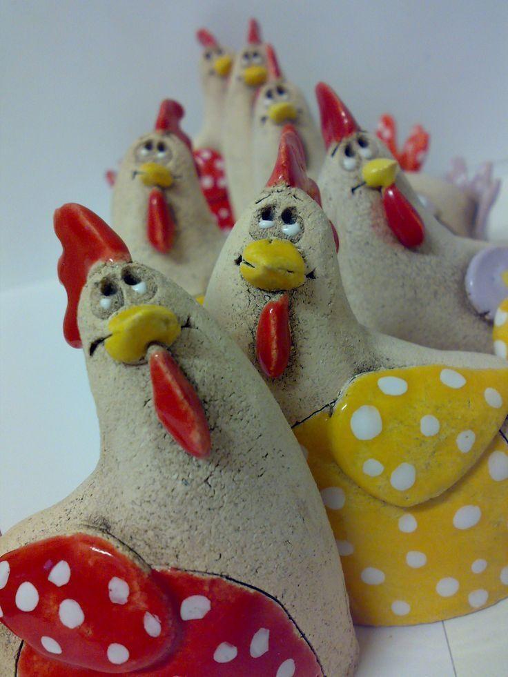 Minislepička Henne 7 x 9 cm Preis pro Stück – Keramik – Hahn und Huhn, Vögel …   – Keramische Kunst