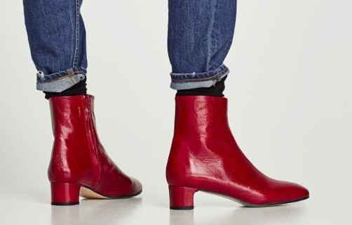Stivaletti rossi Zara con tacco per questa primavera 2018 vi consiglio questi particolari stivaletti in pelle di Zara. un paio di calzature davvero originali che potete indossare con un paio di jeans o con una gonna delle tonalità del rosso. il tacco è di soli 4 cm ideale per coloro che non vogliono portare scarpe dall'altezza ve #zara #scarpe #shopping #moda