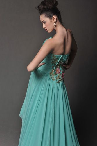 Fancy High-Low Designed Party Dress