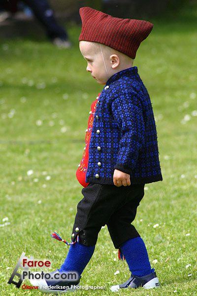 little boy in national costume - Faroe Islands - Føroyar > photo by Olavur