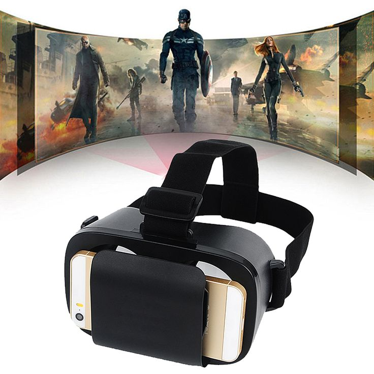 V8 Mobile Phone Head-Mounted Virtual Reality 3D Movie Glasses Phone Game Glasses/Smart Bluetooth Wireless Remote Control Gamepad