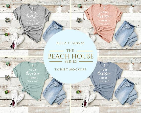 Download Bella Canvas 3001 Tshirt Mockup Beach House Heather T Shirt Flat Lay Slate Prism Dusty Blue Peach Athletic Grey Tshirt Mockup Mockup Mockup Free Psd