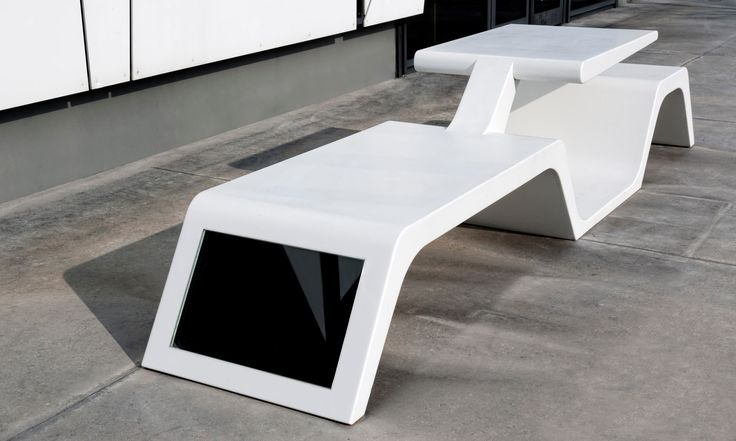 Wi-Bench in DuPont ™ #Corian® to share urban spaces exploiting wireless technology and solar energy. Designed by Architect Tommaso Tavani, by #Modula Srl http://www.modulaonline.it/index.php?lng=en