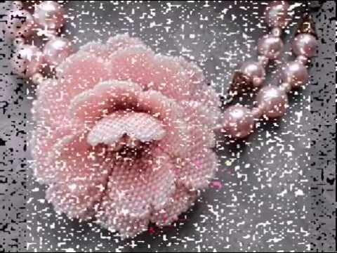 МК красивый цветок из бисера. MK beautiful flower bead - YouTube