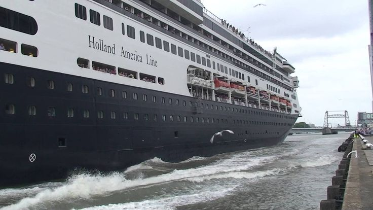 "awesome Cruise Liner ""Rotterdam"" (Holland America Line) departing Rotterdam for Norway on July 20, 2013"