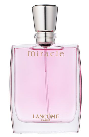 Lancôme 'Miracle' Eau de Parfum Spray...Wore this fragrance on my wedding day. Fresh smell of roses, not overpowering, subtly sweet yet sensuous.  I remember when it first came out...it's been well over 10 years, but I still wear it from time to time.  It's a fragrance I would recognize from miles away.
