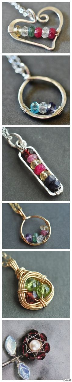 my sister-in-law, showed me how to make this bent wire jewelry, although I'm not as good at it as she is! #puntadas