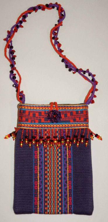 beautiful woven bag by Inge Dam