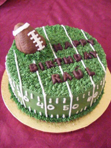 Round football cake