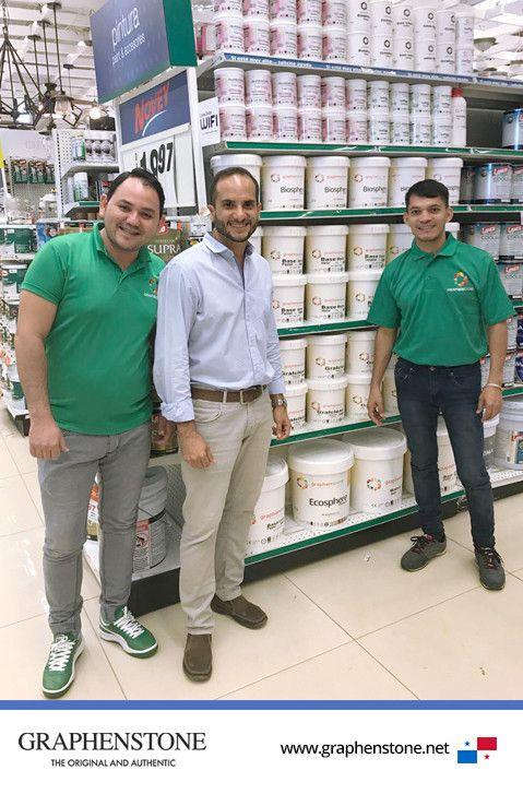 """¡Ya puedes encontrar Graphenstone en las tiendasNovey Panamá¡ Pregunta por nuestros productos #ecológicos a nuestros impulsadores más """"green"""" y ellos te recomendarán la mejor #solución. Crea un ambiente saludable en tu hogar con Graphenstone. Encuentra tu tienda más cercana en este link:https://www.novey.com.pa/ #Graphenstone#PinturaEcologica#EcoPintura#ProductoNatural#Ambiente#Sano"""
