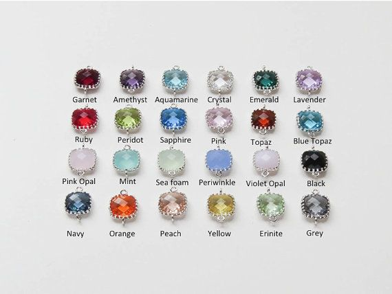Dainty with a pop of color! The perfect personalized gift for bridesmaids/birthdays or the holidays. Initial Disc size: 12mm  Choose your own stone color and initial! Birthstone by Month:  1-January-Garnet 2-February-Amethyst 3-March-Aquamarine 4-April-Crystal 5-May-Emerald 6-June-Lavender 7-July-Ruby 8-August-Peridot 9-September-Sapphire 10-October-Pink 11-November-Topaz 12-December-Blue Zircon   NOTE: PLEASE ADD SIZE DETAILS IN NOTE TO SELLER AT CHECKOUT (if no size is indicated then I…