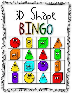 """Kindergarten CCSS.MATH.CONTENT.K.G.A.3: Identify shapes as two-dimensional (lying in a plane, """"flat"""") or three-dimensional (""""solid""""). This will be a fun way to access the children on whether or not they know their three dimensional shapes. I will also have some real life examples so that they may feel or look at them if needed at any time."""
