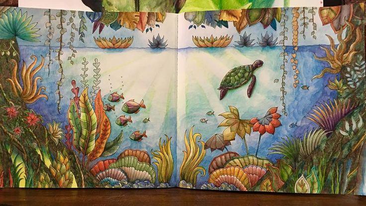 From Johanna Basford's Magical Jungle #carandache #carandacheph…