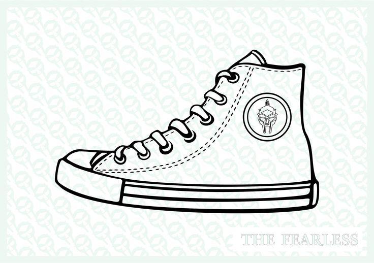 Converse shoe clipart vector file Scarpa converse disegno   Etsy ...
