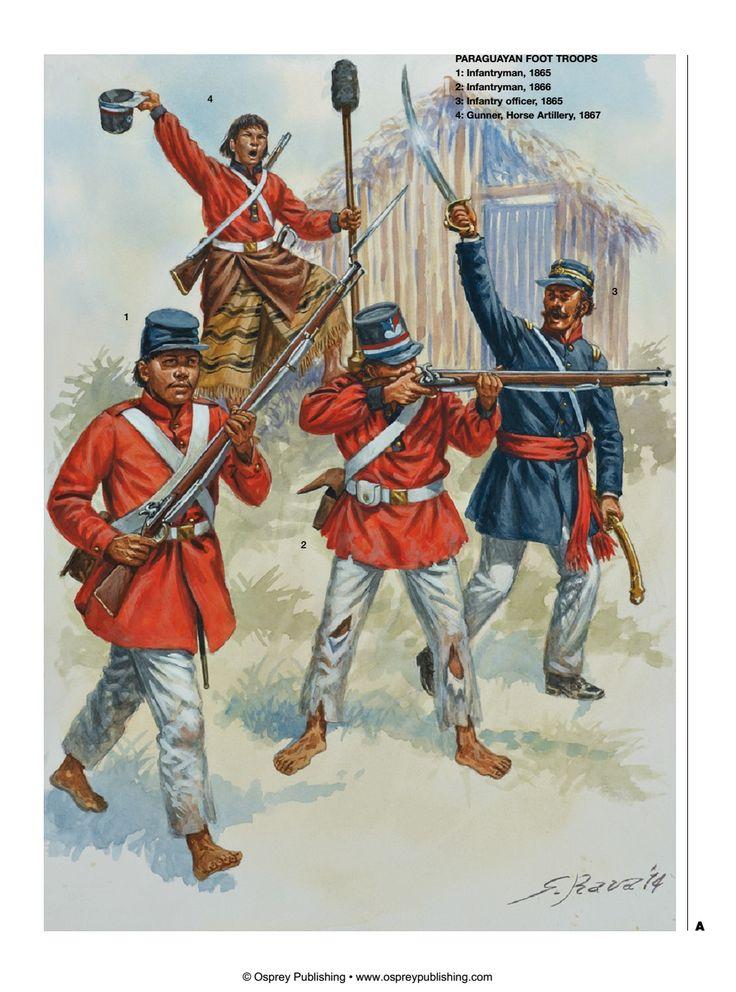 Paraguay; Infantry & Horse Artillery 1865-67