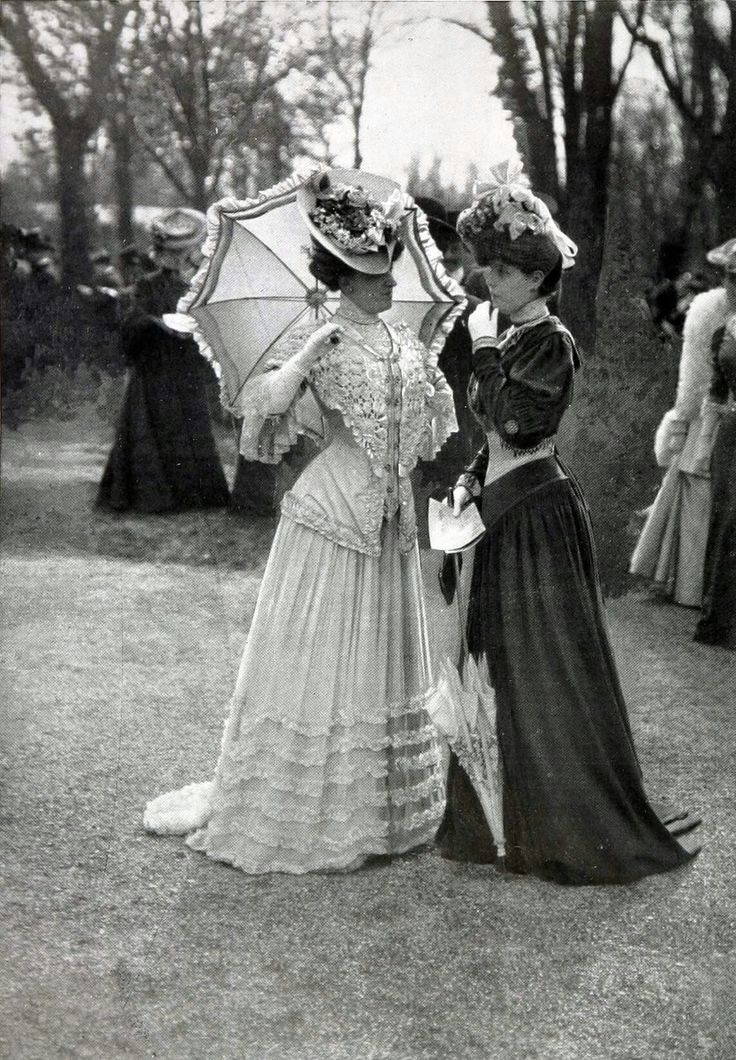 1905, Fashions at the races Les Modes Paris   In Pretty Finery