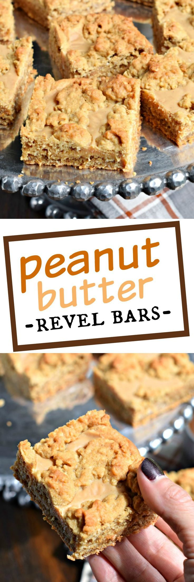 Peanut Butter Revel Bars are a sweet, chewy cookie bar, perfect for ...