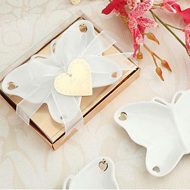 porcelaine souvenirs plat de bonbons papillon – USD $ 3.59
