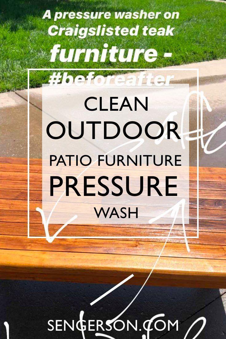 How To Wash Teak Outdoor Furniture
