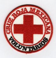 Cruz Roja Mexicana voluntarios patch