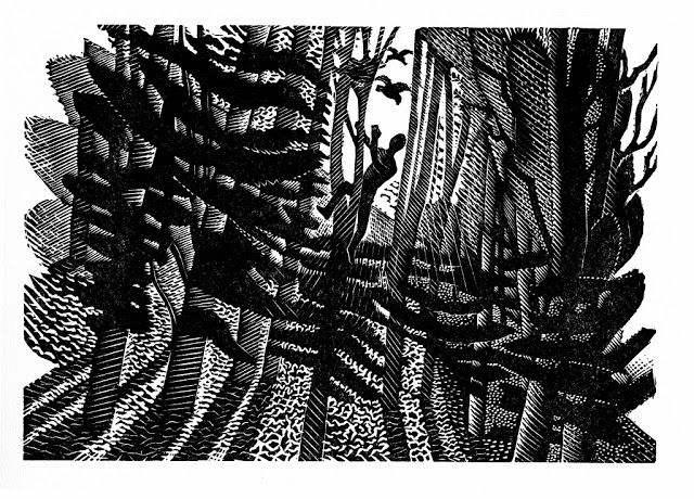 Wood engraving by Eric Ravilious for Gilbert White's Natural History of Selborne