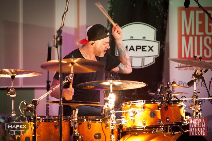 Matt Halpern of Periphery drum clinic #matthalpern #periphery #mapex #mapexdrums #mapexaustralia #drums #drumset #drumkit #meinl #meinlcymbals #promark #promarksticks #promarkbydaddario #promarkdrumsticks #drumporn #drumclinic #mapexsaturn #megamusic #megamusicmyaree #calvertmusiccentre