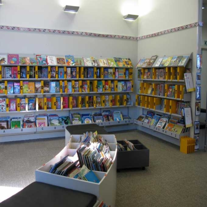 Example Of Face Out Wall Mounted Shelving, Papanui School Library |  Services To Schools