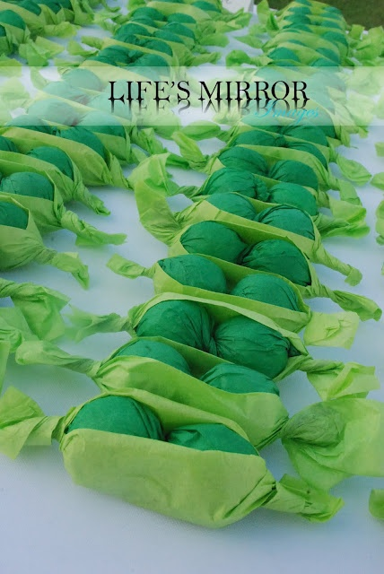 Peas In A Pod Gumballs Wrapped In Green Tissue