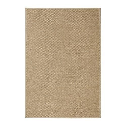 EGEBY Rug, flatwoven IKEA Sisal, a durable material that withstands extra hard wear. Latex backing keeps the mat firmly in place.